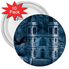Church Stone Rock Building 3  Buttons (10 Pack)  by Celenk