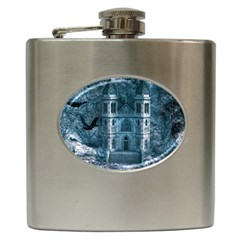 Church Stone Rock Building Hip Flask (6 Oz) by Celenk