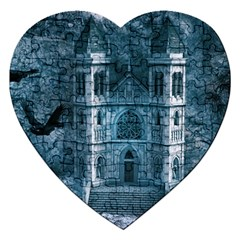 Church Stone Rock Building Jigsaw Puzzle (heart) by Celenk
