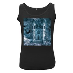 Church Stone Rock Building Women s Black Tank Top
