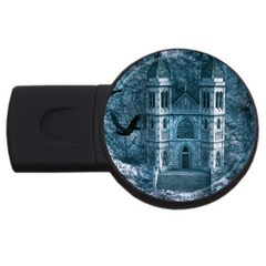 Church Stone Rock Building Usb Flash Drive Round (4 Gb) by Celenk