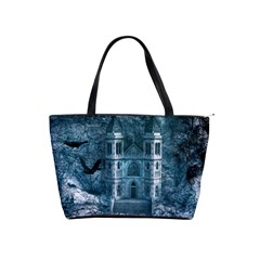Church Stone Rock Building Shoulder Handbags by Celenk