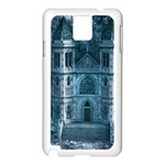 Church Stone Rock Building Samsung Galaxy Note 3 N9005 Case (White) Front