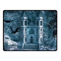 Church Stone Rock Building Double Sided Fleece Blanket (small)  by Celenk
