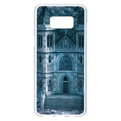 Church Stone Rock Building Samsung Galaxy S8 Plus White Seamless Case by Celenk