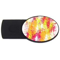 Painting Spray Brush Paint Usb Flash Drive Oval (2 Gb)