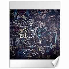 Graffiti Chalkboard Blackboard Love Canvas 36  X 48   by Celenk