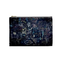 Graffiti Chalkboard Blackboard Love Cosmetic Bag (medium)  by Celenk