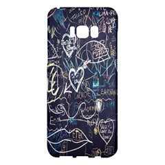 Graffiti Chalkboard Blackboard Love Samsung Galaxy S8 Plus Hardshell Case