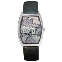 Doodle Drawing Texture Style Barrel Style Metal Watch