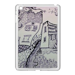 Doodle Drawing Texture Style Apple Ipad Mini Case (white)