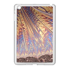 Flourish Artwork Fractal Expanding Apple Ipad Mini Case (white) by Celenk