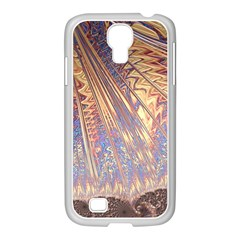 Flourish Artwork Fractal Expanding Samsung Galaxy S4 I9500/ I9505 Case (white) by Celenk