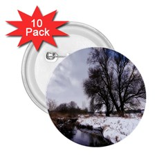 Winter Bach Wintry Snow Water 2 25  Buttons (10 Pack)  by Celenk