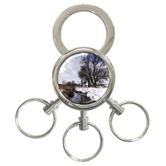 Winter Bach Wintry Snow Water 3 Ring Key Chains by Celenk
