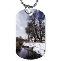 Winter Bach Wintry Snow Water Dog Tag (one Side)