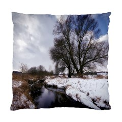 Winter Bach Wintry Snow Water Standard Cushion Case (two Sides) by Celenk