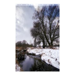 Winter Bach Wintry Snow Water Shower Curtain 48  X 72  (small)  by Celenk