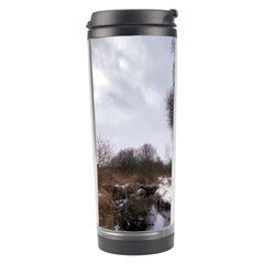 Winter Bach Wintry Snow Water Travel Tumbler by Celenk