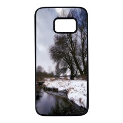 Winter Bach Wintry Snow Water Samsung Galaxy S7 Black Seamless Case