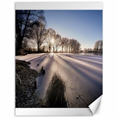 Winter Lake Cold Wintry Frozen Canvas 12  X 16   by Celenk