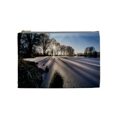 Winter Lake Cold Wintry Frozen Cosmetic Bag (medium)