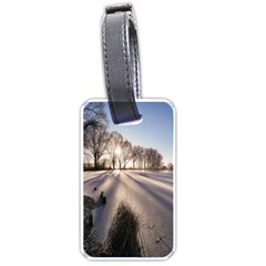 Winter Lake Cold Wintry Frozen Luggage Tags (one Side)  by Celenk
