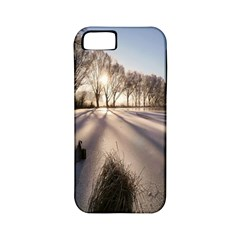 Winter Lake Cold Wintry Frozen Apple Iphone 5 Classic Hardshell Case (pc+silicone) by Celenk