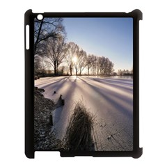Winter Lake Cold Wintry Frozen Apple Ipad 3/4 Case (black) by Celenk