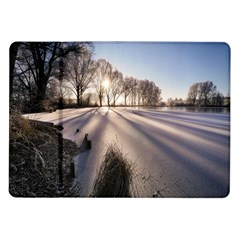 Winter Lake Cold Wintry Frozen Samsung Galaxy Tab 10 1  P7500 Flip Case by Celenk