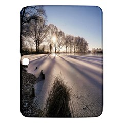Winter Lake Cold Wintry Frozen Samsung Galaxy Tab 3 (10 1 ) P5200 Hardshell Case  by Celenk