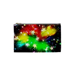 Star Abstract Pattern Background Cosmetic Bag (small)  by Celenk