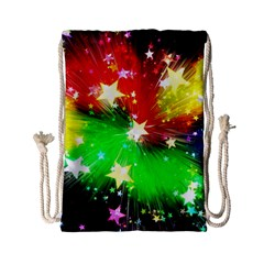 Star Abstract Pattern Background Drawstring Bag (small) by Celenk