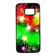 Star Abstract Pattern Background Samsung Galaxy S7 Black Seamless Case by Celenk