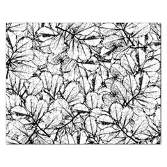 White Leaves Rectangular Jigsaw Puzzl by SimplyColor