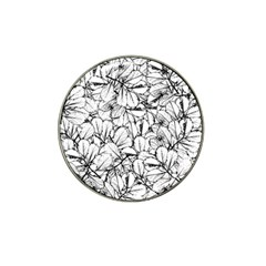 White Leaves Hat Clip Ball Marker (4 Pack) by SimplyColor