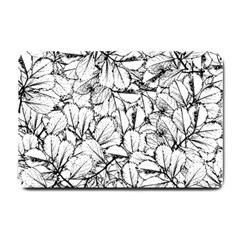 White Leaves Small Doormat  by SimplyColor