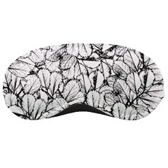 White Leaves Sleeping Masks by SimplyColor