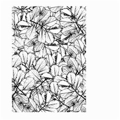 White Leaves Large Garden Flag (two Sides) by SimplyColor