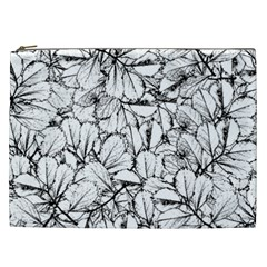 White Leaves Cosmetic Bag (xxl)  by SimplyColor