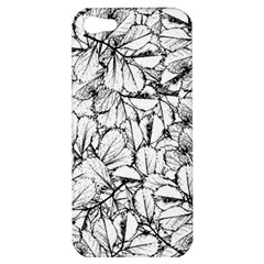 White Leaves Apple Iphone 5 Hardshell Case by SimplyColor