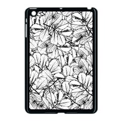 White Leaves Apple Ipad Mini Case (black) by SimplyColor