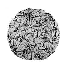 White Leaves Standard 15  Premium Round Cushions by SimplyColor