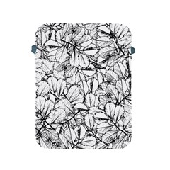 White Leaves Apple Ipad 2/3/4 Protective Soft Cases by SimplyColor