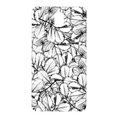 White Leaves Samsung Galaxy Note 3 N9005 Hardshell Back Case by SimplyColor