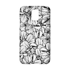 White Leaves Samsung Galaxy S5 Hardshell Case  by SimplyColor