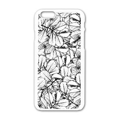 White Leaves Apple Iphone 6/6s White Enamel Case by SimplyColor