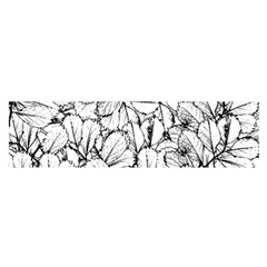 White Leaves Satin Scarf (oblong) by SimplyColor