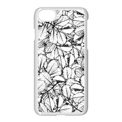 White Leaves Apple Iphone 7 Seamless Case (white) by SimplyColor