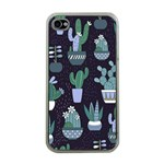 Cactus Pattern Apple iPhone 4 Case (Clear) Front